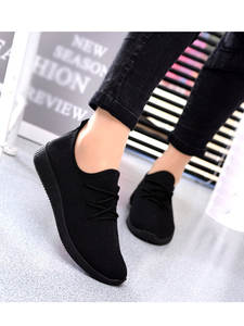 YOUYEDIAN Sneakers Women Chaussure Shoes Black Breathable Femme Shallow