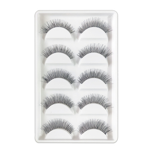 Image 2 - 5 Pairs Natural Black Long Sparse Cross False Eyelashes Fake Eye Lashes Extensions Makeup Tools