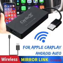 Carplay A3 inalámbrico para Apple Carplay Adaptador Android Auto Dongle coche jugar coche Iphone WIFI Bluetoot MIMI enlace espejo(China)