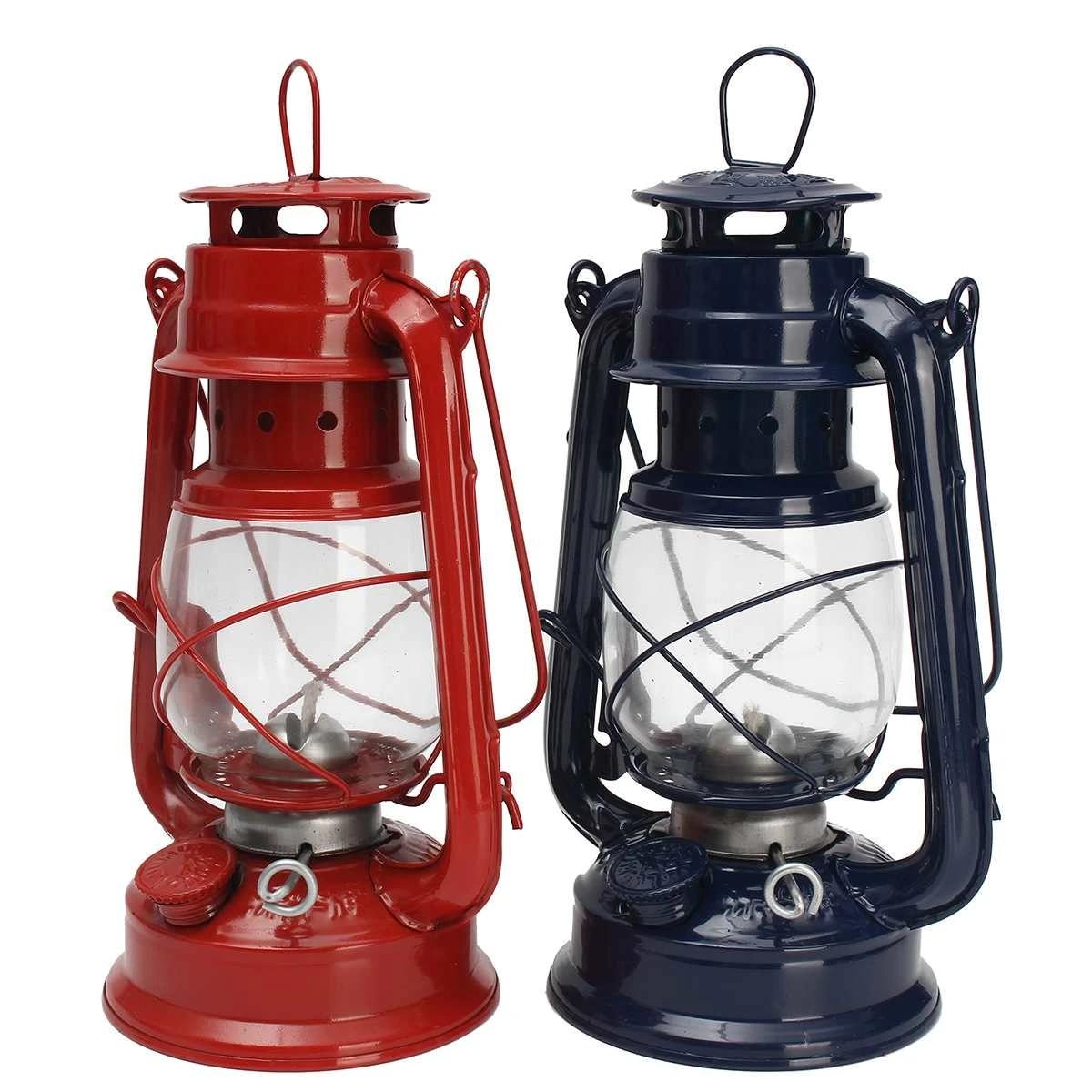 Oil Lantern Lamp Kerosene Hurricane Light Storm Outdoor Camping Fuel Lamp