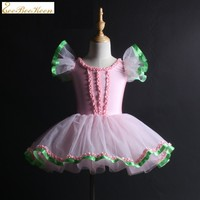 Fashion Princess For Girls Ballet Dress Pink Romantic Tutu Ballet Dancewear Ballerina Dress Kids Ballet Costumes Dance Clothes
