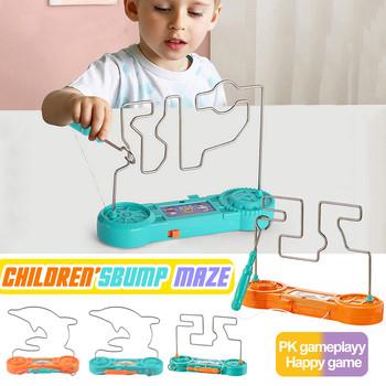 Kolizji zabawka elektryczna porażająca Montessori edukacyjne elektryczny gra w labirynt Party zabawna gra eksperyment naukowy zabawka na prezent dla dziecka tanie i dobre opinie CN (pochodzenie) MATERNITY W wieku 0-6m 7-12m 13-24m 25-36m 4-6y 7-12y 12 + y Not edible Puzzle Game For Children Montessori Educational Toys for Children