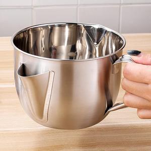 1000ML wielozadaniowy sos ze stali nierdzewnej zupa olejowa Separator tłuszczu smar olejarka filtr siatkowy miska domu kuchnia narzędzia kuchenne
