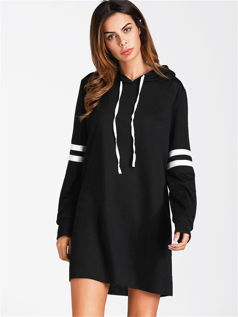 Ladies Wear Women Hoodie Dresses Long Sweatshirt Pullover Sexy Dress Girl Female Winter Casual Party Loose Long Sleeves Clothes
