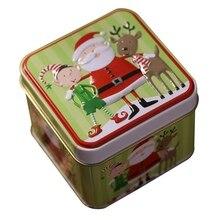 Тиснение Рождество жесть пустые банки для конфет и печенья подарочный контейнер для хранения Праздничная декоративная коробка