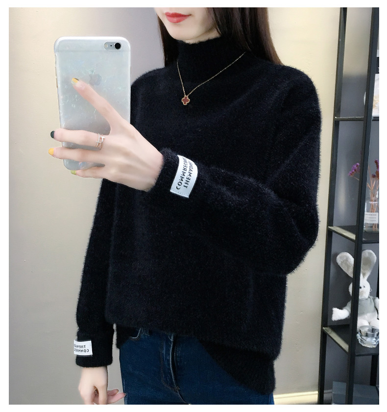 SURMIITRO Knitted Warm Sweater Female For Autumn winter 19 Ladies Long Sleeve Women Turtleneck Tricot Pullover Blue Jumper 16