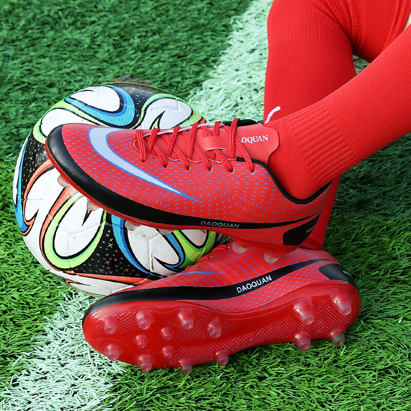 2021 New Arrival Men's Soccer Shoes Large Size Ultralight Football Boots Boys Sneakers Non-Slip AG/TF Soccer Cleats Ankle Boots 5