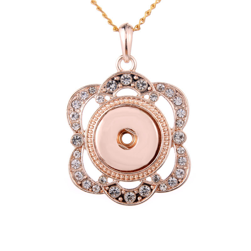 Pendant Moon Interchangeable DIY Ginger Snaps Moon fit for 18mm Snap Button Pend