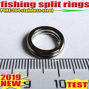 Image 1 - 2019HOT fishing split rings 4.5 MM 17.2 MM akcesoria wędkarskie ilość: 100 sztuk/partia high quality304 ze stali nierdzewnej wybierz rozmiar!!!