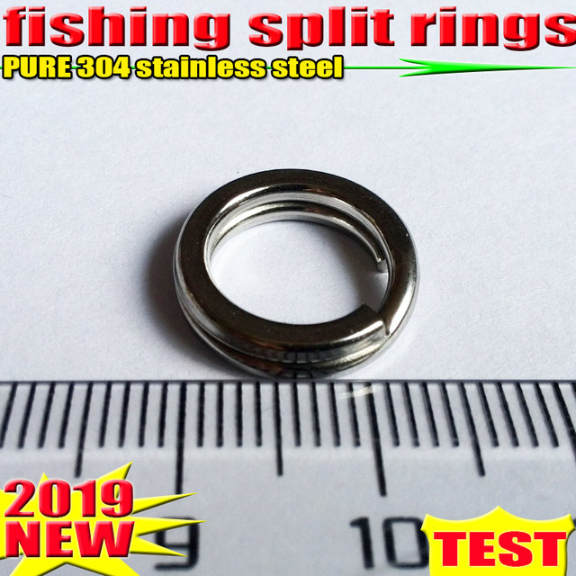 2019HOT fishing split rings 4.5MM  17.2MM fishing accessories quantity:100pcs/lot high quality304 stainless steel choose size!!!