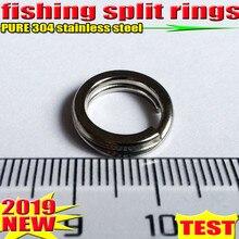2019hot 낚시 분할 반지 4.5mm 17.2mm 낚시 액세서리 수량: 100 개/몫 고품질 304 스테인레스 스틸 크기를 선택하십시오!!!