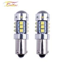 O erro livre 16smd xbd de canbus lasca o lado 12v 24v do diodo emissor de luz para a luz reversa do carro 2 pces ba9s t4w baxter 9s h6w bay9s h21w 80w