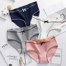 Threaded womens underwear womens cotton mid rise girls underwear sexy women