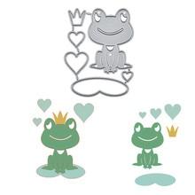 Scrapbooking Album Craft-Dies Die-Cut Embossing-Stencil-Decor Frog Metal Inlovearts Lotus-Leaf
