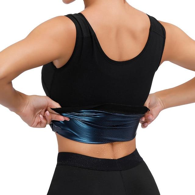 Men Polymer Sweat Sauna Shaper Vest Body Shaper Waist Trainer Slimming Women Tank Top Workout Shirt Weight Loss Body Shapewear 4