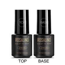 ROSALIND Gel vernis couche de finition couche de Base brillant longue durée renforcer 7ml vernis hybrides manucure UV Gel laque ongle Art apprêt