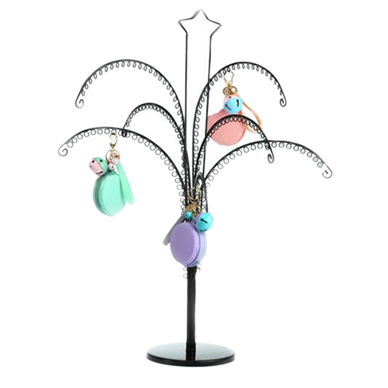Large Metal Earring Display Tree Jewelry Showing Rack Shelf Necklace Hanging Showcase Bracelet Holder Bangle Display Stand