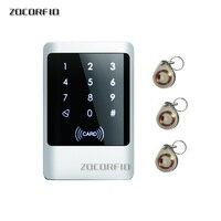 RFID dokunmatik tuş erişim kontrol sistemi seti kapı kilidi 125KHz EM kart su geçirmez Metal kasa aydınlık kapı girişi için