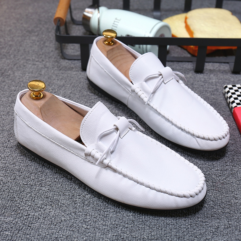 Men Shoes Casual Leather Slip-on Male Driving Loafers Moccasins Breathable Comfy Outdoor Non-slip Walking Flat Shoes Classic