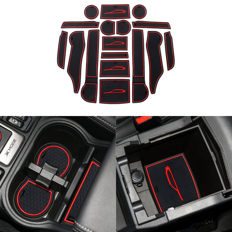 Car Front&Back Door Slot Pad Mat Cup Holders Mats Trim Armrest Storage Box Pad Interior Styling for Subaru Forester 2019 Interior Accessories 17Pcs(set)-in Interior Mouldings from Automobiles & Motorcycles