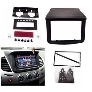 Image 1 - 2 Din Auto Stereo Radio Fascia Panel Platte Rahmen DVD Stereo Montieren Installa fasciafor Mitsubishi Pajero Sport /Triton L200 + MID
