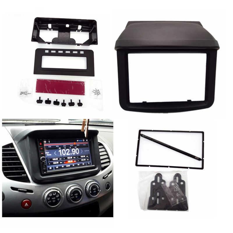 2 Din auto Radio estéreo Fascia Panel Placa de Marco DVD estéreo montaje Installa fasciafor Mitsubishi Pajero Sport/Triton L200 + MID