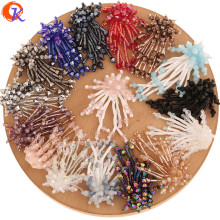 Cordial Design 10Pcs 35*50MM Jewelry Accessories/Crystal Bead Charms/Hand Made/Crystal Flower Shape/DIY Making/Earring Findings