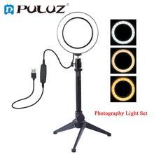 LED halka ışık Video Fotoğrafçılığı Selfie Lamba Kısılabilir Kameralı Telefon Masaüstü Tripod Çekim için Makyaj Video Canlı Stüdyo