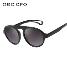 OEC CPO Vintage Round Sunglasses Men 2019 Brand Design Pilot Acetate Fashion Male Sun Glasses Women Retro Shades UV400 O105