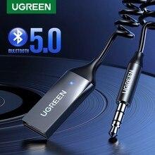 UGREEN – adaptateur sans fil récepteur Bluetooth 5.0, 3.5mm, Jack, écouteurs, transmetteur mains libres, pour voiture, Audio AUX