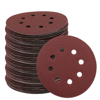 Free shipping 25pcs 5 inch 8 holes Sanding paper Disc Multiple Grits 5'' Sandpaper kit Hook Loop High quality guarantee high quanlity portable induction sealer 0 8 inch 3 94 inch free shipping