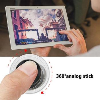 Ultra-cienki telefon komórkowy z ekranem dotykowym Joystick na telefony z systemem iOS na telefony z androidem gry zręcznościowe kontroler dotykowy Joystick tanie i dobre opinie KOQZM CN (pochodzenie) Touch Screen Mobile Joystick