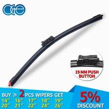 OGE 14''-32'' Replacement Wiper Windscreen Wiper Blade Fit 19mm Push Tab Arm Replace Rubber Refill Convenient 1PC