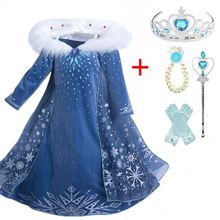 Princess 2 Girls Dress Cosplay Dresses Snow Costumes For Kids Princess Elsa Dress Disfraz Carnaval Vestidor Robe Infantil cheap Aini Babe Polyester Viscose Mesh CN(Origin) Ankle-Length O-neck Regular Full Novelty Fits true to size take your normal size