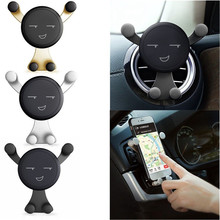 Gravity Car Holder 360 Degree Adjustable Air Vent Mount For iPhone/Samsung Car Phone Holder Cartoon Car Bracket Support Stand цены