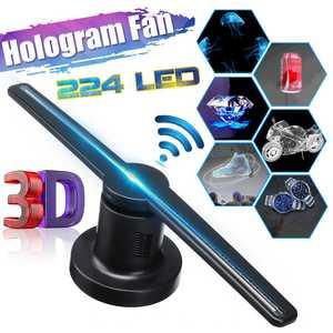 3D Fan Hologram Projector Advertising Display Hologram Fan Holographic Lmaging Lamp 3D Display Advertising Logo Light Decoration