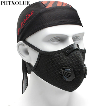 PHTXOLUE Cycling Mask Activated Carbon Filter Dust Mask PM 2.5 Anti-Pollution Training Running MTB Bike Sport Cycling Face Mask