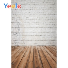 Yeele Grunge Style White Brick Wall Wooden Floor Photography Backgrounds Personalized Photographic Backdrops For Photo Studio