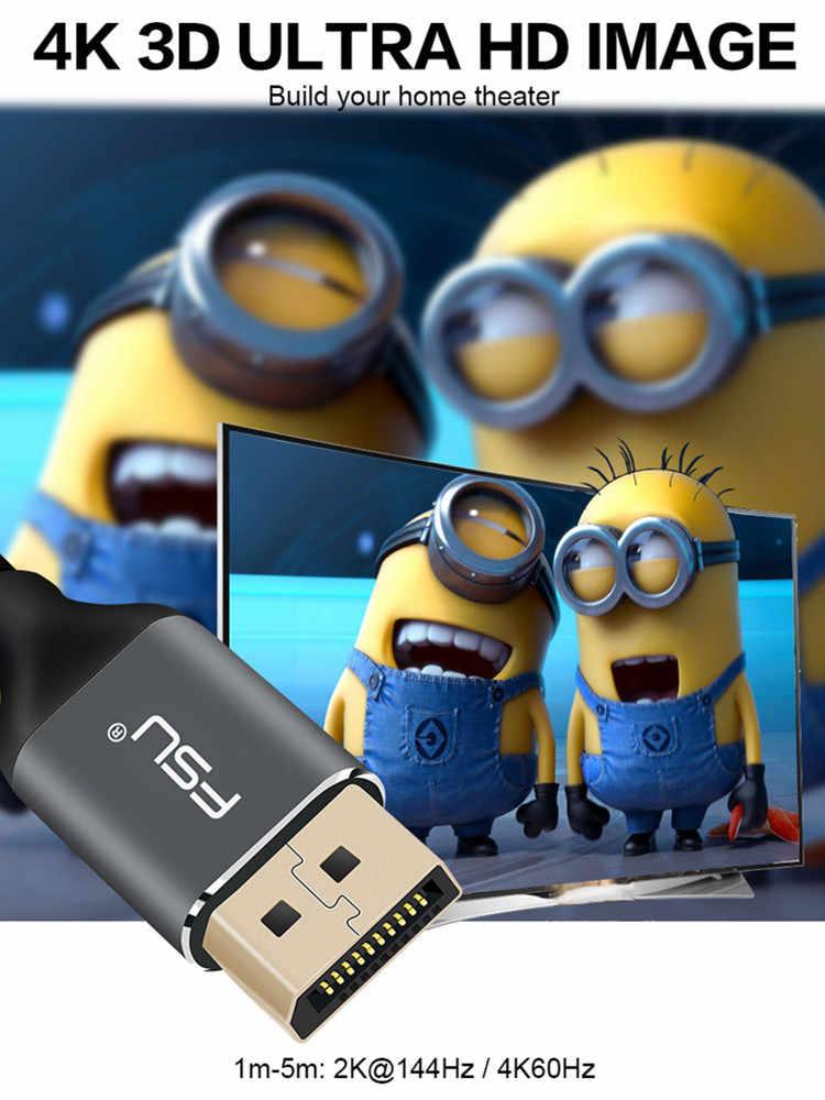 Displayport Cổng Hiển Thị Cáp 144Hz 1.2V 4K DP TO DP Cáp Audio Video cho HDTV máy chiếu Laptop 1M 1.5M 2M 3M 5M