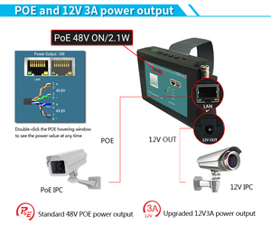 """Image 4 - IPC1800 plus 4"""" IP Camera Tester monitor CCTV TVI CVBS Analog Video Test PTZ Control Touch Screen H.265 4K 8MP 1080P with WIFI"""