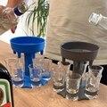 6-schuss Glas Dispenser Halter Wein Whisky Bier Dispenser Rack Bar Zubehör Trinken Party Spiele Glas Dispenser Trinken Tools