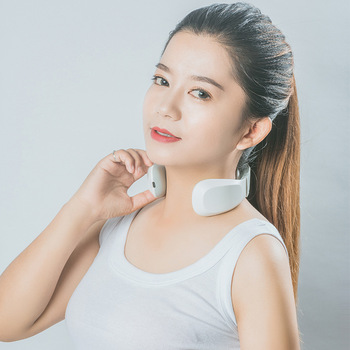 Neck Massager EMS Pulse Hot Moxibustion 3D Smart Fitting Remote Control Physiotherapy TENS Activate Cells Massager For Neck