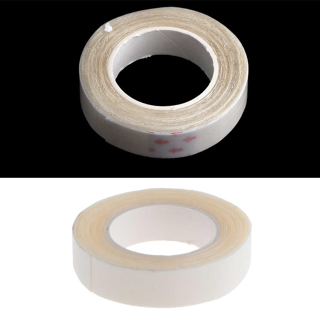 2 Stuks, 3 Yards Pruik Ondersteuning Tape Roll 1 Cm Breed Sterke Lijm Dubbelzijdig Haar Vervanging Tape Voor Huid Inslag Haar pruiken Baard