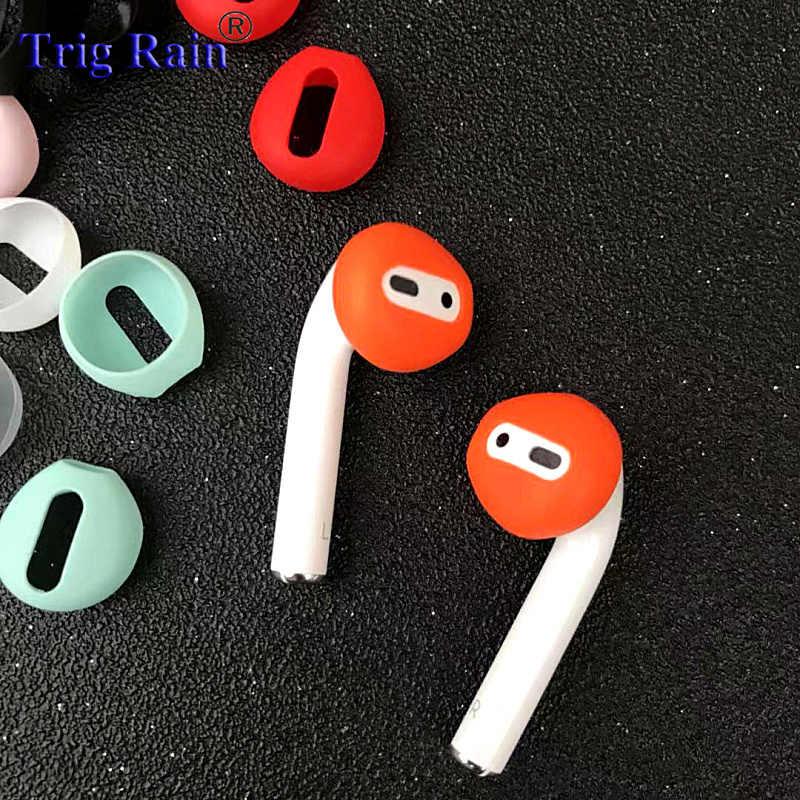 2 sztuk/para wkładki do uszu dla Airpods bezprzewodowy Bluetooth dla iphone 7 7plus słuchawki silikonowe nauszniki etui na słuchawki earpads eartips