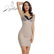 Joyshaper 2020 mujer vestido completo que se desliza Underskirt corsé adelgazante, lencería Sexy entrenador de cintura para Control de barriga modelador de cuerpo sin costuras