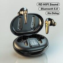Беспроводные Bluetooth-наушники TWS, спортивные стереонаушники Водонепроницаемая гарнитура 9D Hi-Fi, беспроводные наушники для телефона с микрофон...