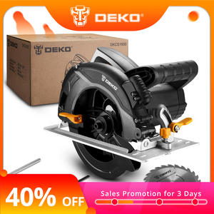 DEKO DKCS1600 Circular Saw Power Tools with Blade, Dust Passage, Auxiliary Handle, High Power and Multi-function Cutting Machin