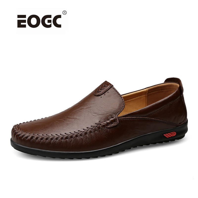 Genuine Leather Shoes Men Handmade Casual Men Flats Shoes Slip On Leather Loafers Moccasins  Driving Shoes Sapatos Homens