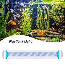 Lampa do akwarium o wysokiej jasności zamiennik LED ultra-cienka wodoodporna roślina wodna rosnąca ekologiczny klip niebieskie białe światło tanie tanio CN (pochodzenie) Do umieszczenia w wodzie 7 8 cm 24 w Fish Tank Light light for Fish Tank