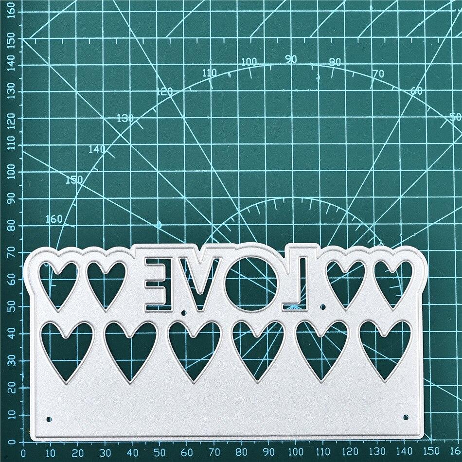Naifumodo Love Border Metal Cutting Dies for Card Making Scrapbooking Dies Embossing Stencil Craft Frame Dies Lace Cutting Dies